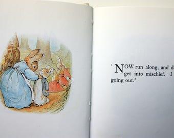 The Tale of Peter Rabbit  Beatrix  Potter Book,  vintage Beatrix Potter,  F. Warner, Peter Rabbit Book