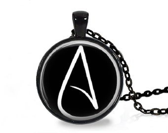 Atheist Logo, Black and White Pendant