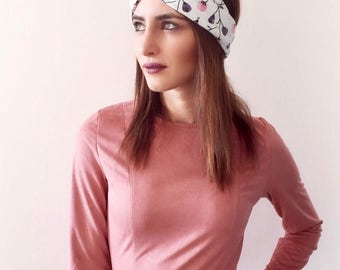 Turban Headband, Twisted Headband, Women's Headband, Flower Print, Spring Headband, Summer Turban, Small Gift Idea, Jersey Headband