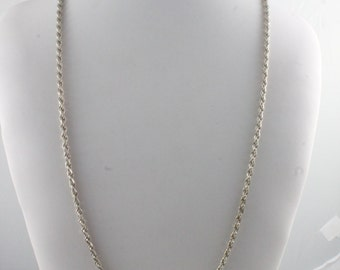 """30"""" Sterling Silver Rope Chain"""