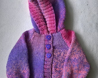 Hand Knit  Baby Jacket. 3-6 months