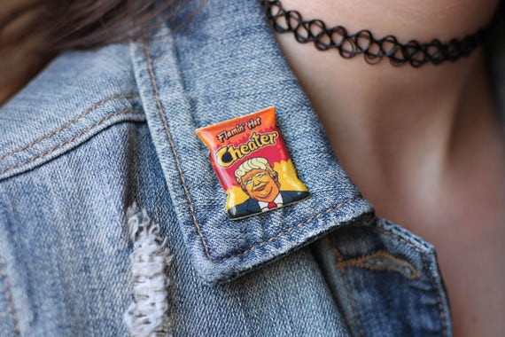 Cheating Cheeto Pin