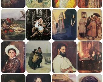 Artist Victor Vasnetsov. Set of 16 Vintage Soviet Postcards - 1986. Izobrazitelnoe iskusstvo, Moscow