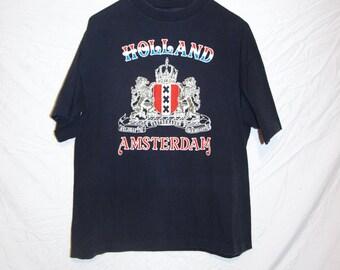 1980's HOLLAND AMSTERDAM vasterberaden t-shirt size large