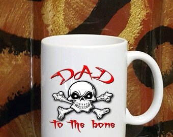 Dad To The Bone Skull Coffee Mug
