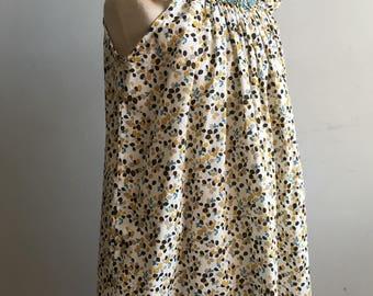 Vintage Girl's Dress, Liberty of London Smocked Dress