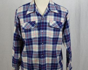 1960's Vintage National Shirt Shop Men's Plaid Shirt-Jac