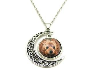 Yorkie Necklace, Yorkie Lover, Yorkie Charm, Yorkie Jewelry, Yorkie Photo Necklace, Yorkie Picture Necklace, Silver Yorkie Charm, Dog Lover