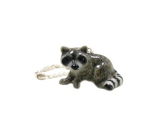 Raccoon Necklace, Charm Necklace, Charm Jewelry, Raccoon Pendant, Raccoon Jewelry, Raccoon Charm, Raccoon Lover, Wildlife Necklace, Critter