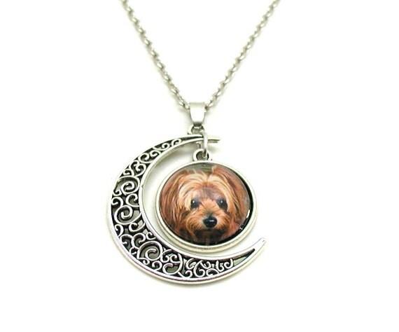 Yorkie necklace yorkie lover yorkie charm yorkie jewelry like this item aloadofball Gallery