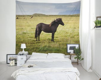 Animal Tapestry, Horse Photography, Icelandic Horse, Tapestry for Guys, Wall Blankets, Tapestry Online, Iceland Tapestry