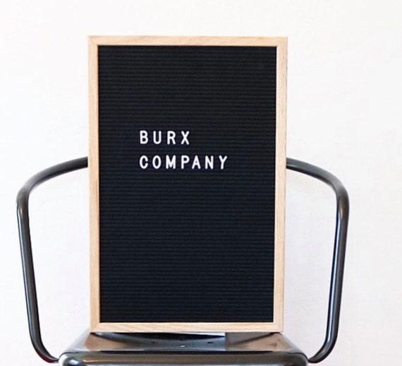 black felt letter board w natural frame 12x18in 290 white. Black Bedroom Furniture Sets. Home Design Ideas