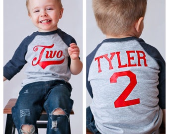 Baseball birthday shirt, 2nd birthday shirt, boys birthday shirt,  baseball t-shirt, baseball birthday party, baseball jersey, baseball
