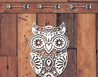 Owl Decal | Yeti Decal | Yeti Sticker | Tumbler Decal | Car Decal | Vinyl Decal