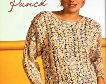 womens crochet sweater pattern CROCHET PATTERN pdf ladies crochet jumper larger sizes 8-22 4ply sport pdf instant download
