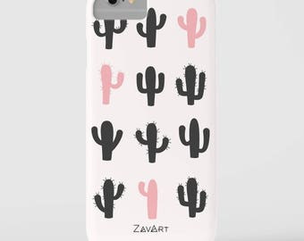 CACTUS phone case, iPhone 7 case, iPhone 6 case, iPhone 6S case, iPhone 5S case, iPhone SE case, Huawei P9 Lite case, funda movil