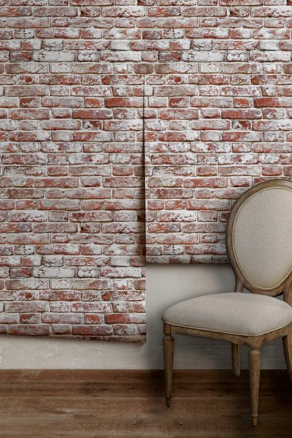 Whitewashed Antique Brick Removable Peel N Stick