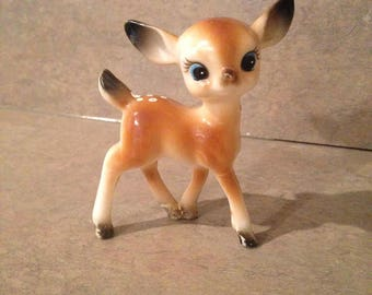 Vintage Bambi Big Eyed Hong Kong Plastic Celluloid Deer