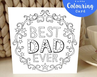 Father's Day Colouring Card