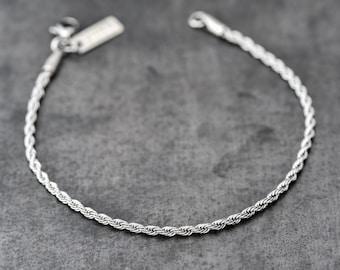 Men's Bracelet, Men's Silver Bracelet, Men's Chain Bracelet, Men's Cuff Bracelet, Men's Gift, Men Bracelet, Bracelets For Men, Guy Bracelets