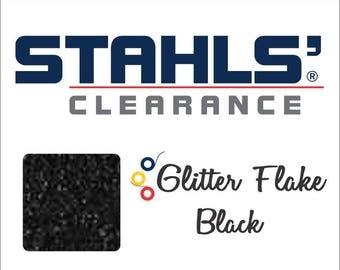 "7"" Stahls' Glitter Flake - Craft Roll - Iron-On Heat Transfer Vinyl - HTV - Black"