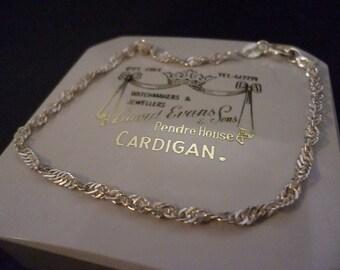 Vintage shimmery sterling silver bracelet - 925 - 7 inch