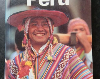 Vintage Paperback Book: PERU A Travel Survival Kit Published by Lonely Planet Publications 1991