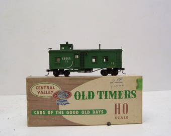 Central Valley Old Timers HO Scale C93 Side Door Caboose Assembled Wood Kit Spring Trucks Q&H RR; FREE Shipping U.S.A.