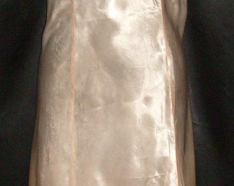 1940's Vintage Double Seamed Front & Back Rayon Satin Slip 36