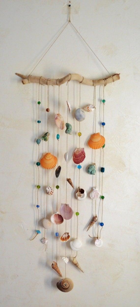 Chimes Sea Shells, Drift Wood & Sea Shell Wind Chimes, Hemp and Shell Chimes, Boho Beachy Wind Chimes, Drift Wood Wind Chimes, Wind Chimes