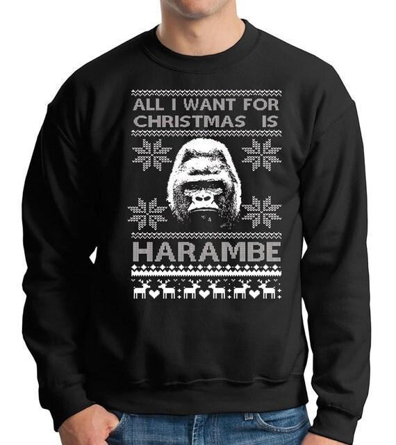 Harambe Ugly Christmas Sweater Harambe The Gorilla Sweatshirt