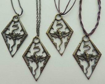 Skyrim Bronze Pendant Necklace (Unofficial)