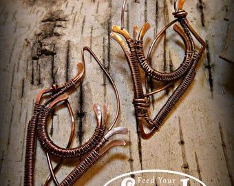 Elvin copper earrings