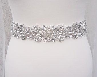 Bridal belt, wedding dress belt, wedding belts and sashes, all around belt, wide bridal belt, bridal sash, rhinestone belt, diamante belt