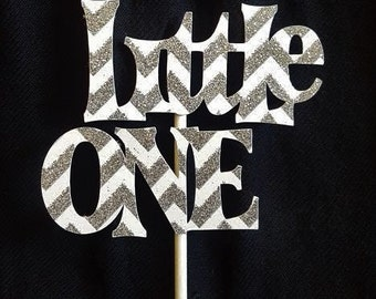 Little One Cupcake & Cake Topper, Chevron