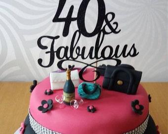 Fabulous cake topper Etsy UK