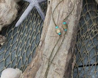 Boho Beach Bronze Shell Necklace - Layering - Beach Jewelry - Beachwear - Mermaid Necklace - Mermaid Vibes - Coastal Jewlery