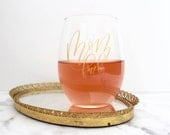 MOM FUEL // 21 Oz. Stemless Wine Glass // Mother's Day // New Mom // Baby Shower // Gifts for Mom