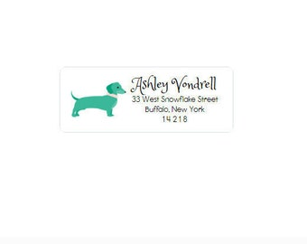 Return Address Labels - Dog - Custom - Personalized - Return Address Stickers