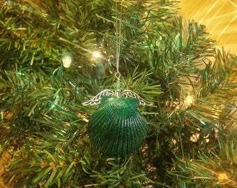 Christmas Angels - Angel Ornament - Beach Ornament - Seashell Ornaments - Shell Angel - Beach Christmas Ornament – Sea Shell Ornament