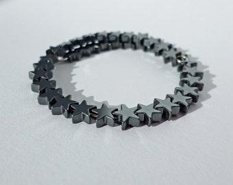 Petite Hematite Star Bracelet