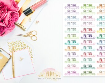 36 Me Time Daily Habit Stickers  | Planner Stickers designed for use with the Erin Condren Life Planner | 0655