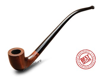 Churchwarden Long Tobacco Pipe Lord of the Rings GANDALF pipe HOBBIT pipe LOTR Sherlock Holmes Smoking Pipe Smoking Bowl Custom Engraving