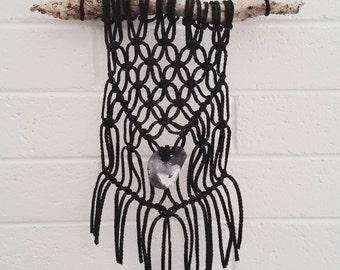 Black Macrame Wall Hanging