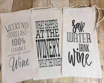 Wine Gift Bag, Wine Bottle Bags, Canvas Wine Bag, Wine Bags, Wine Gifts, Wine Tote, Wine Gift Bags