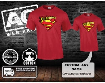 Super Dad and superkid shirt