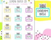M019 Dream Big // Planner Stickers