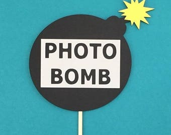 Photo Bomb Prop / Photobomb Photo Prop / Photo Booth Photo Bomb / Cool Party Props / FULLY ASSEMBLED