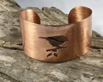 Copper Bird Cuff