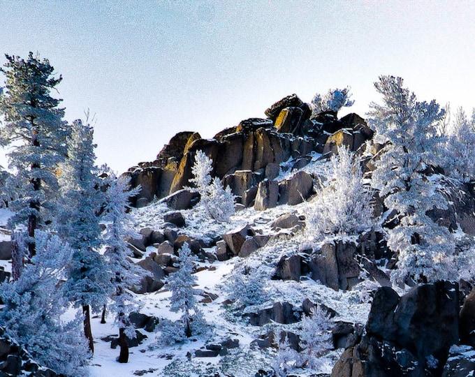 Lake Tahoe Frozen Mountain Top